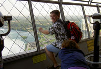 Climbing the Skylon Tower